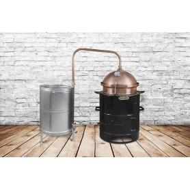 BM 30 distilling pot still for brandy DES hobby 30 liters without mixer - heating on solid fuel