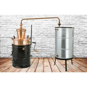 SM 60 distilling pot tilter for brandy DES 60 liters with mixer