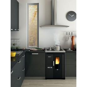 Nina 7,5 kW ugradbeni štednjak na pelet boja mat crna metal