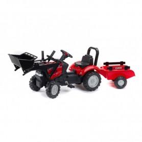 Traktor FALK na pedale s lopatom i prikolicom - crveni