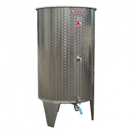 Stainless steel tank with floating lid 400l