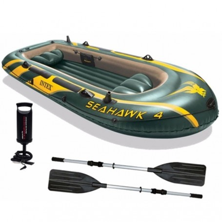 Seahawk rubber boat set for four person - by Intex