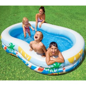 Family garden pool with swans - Intex