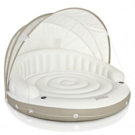Inflatable floating Island with dome 199x150cm
