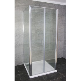 Boston 80 square shower cabin with tub