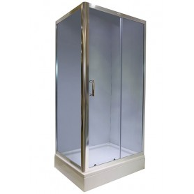 Set - Rubia 80100 rectangular shower cabin with tub