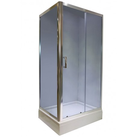 Set - Rubia 80100 rectangular shower cabin with tub