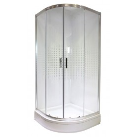 Bielsa 90 round shower cabin with tub