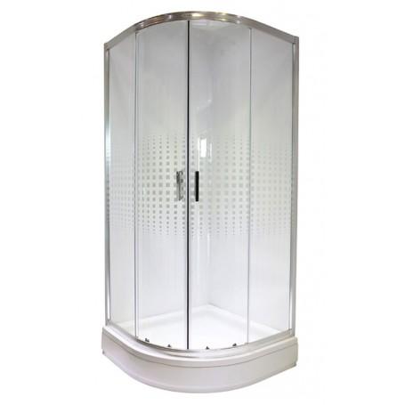 Bielsa 90 round shower cabin with tub