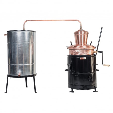 Overturn distilling pot still 80 liters