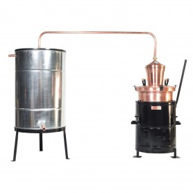 Distilling pot still Overturn 60 liters without hand stirrer