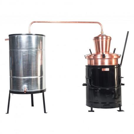 Distilling pot still Overturn 100 liters without hand stirrer