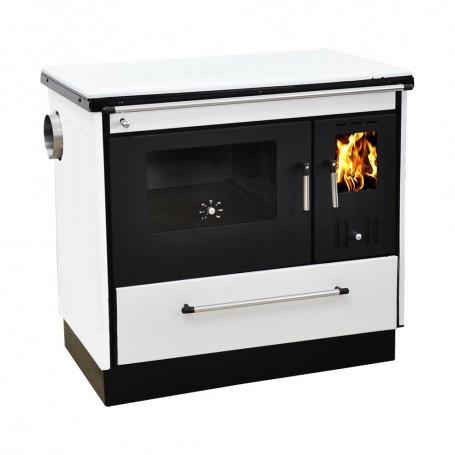 Pela štednjak na drva crno bijeli lijevi