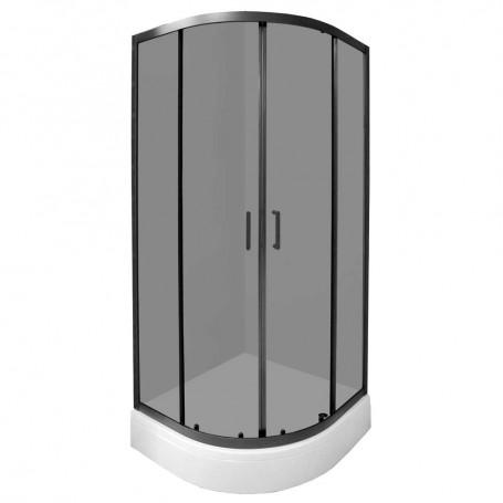 Set – Madera 90R half circular shower cabin with tub