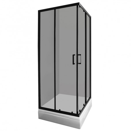 Set– Madera 90120 rectangular shower cabin with tub