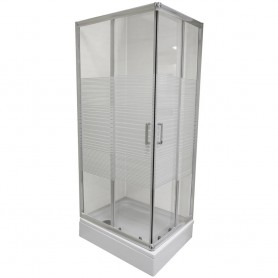Set - Ibiza 80100 rectangular shower cabin with tub