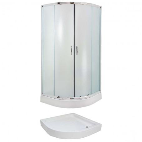 Set - Evora 80R/FIX half-circular shower cabin with tub