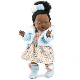 Lutka Valeria s plavim kardiganom, visine 28 cm - Llorens