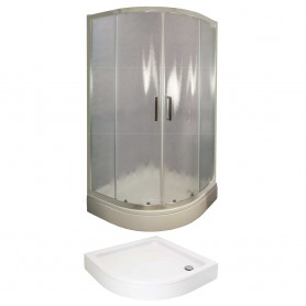 Set - Tossa 80R half circular shower cabin with tub