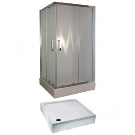 Set - Tossa 90KV square shower cabin with tub