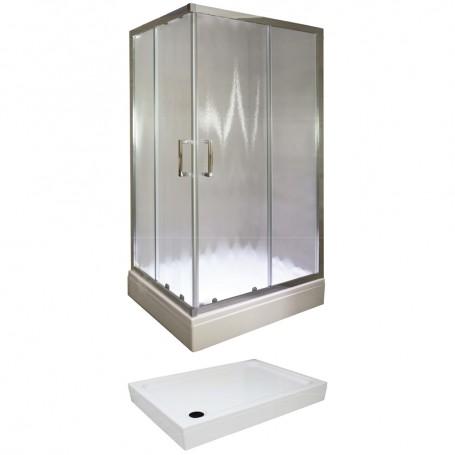 Set – Tossa 80100 rectangular shower cabin with tub