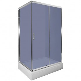 Set - Loria 80120 rectangular shower cabin with tub