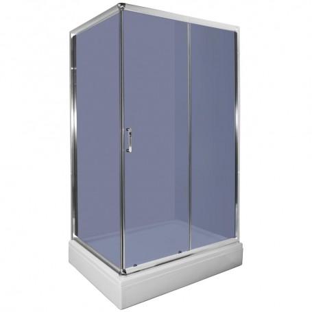 Set - Loria 80120 rectangular shower cabin with tub