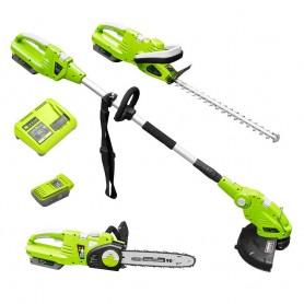 Aku set alata za vrt ZI-GPS40V-AKKU Zipper - šišač grmlja, lančana pila i trimer