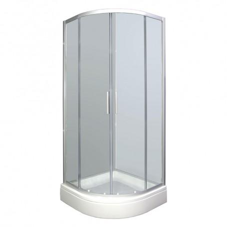 Set - Smart 90R half-circular shower cabin with tub