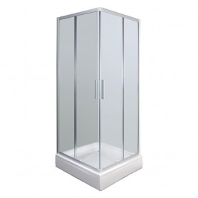 Set - Smart 90KV square shower cabin with tub