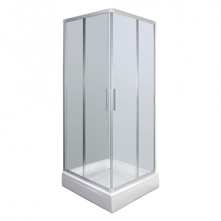 Set - Smart 90KV square shower cabin with tub