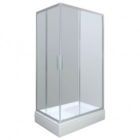 Set - Smart 80120 rectangle shower cabin with tub