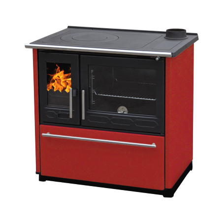 Cooker on solid fuel Plamen 850 Glas red right