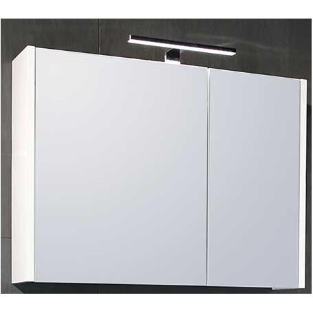 Belt upper bathroom cabinet - white gloss
