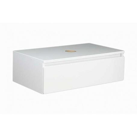 Elegant 80 gornji kupaonski ormarić bijeli sjaj