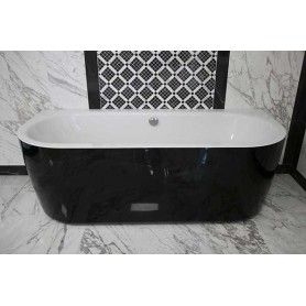 Essence zidna samostojeća kupaonska kada crna 185x80x62