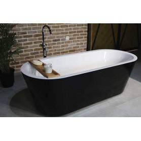 Essence crna samostojeća kupaonska kada 185x80x60