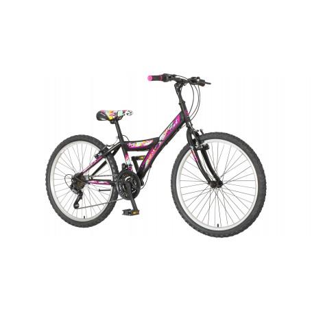 "Dječji bicikl Venssini 24"" crno-šareni"