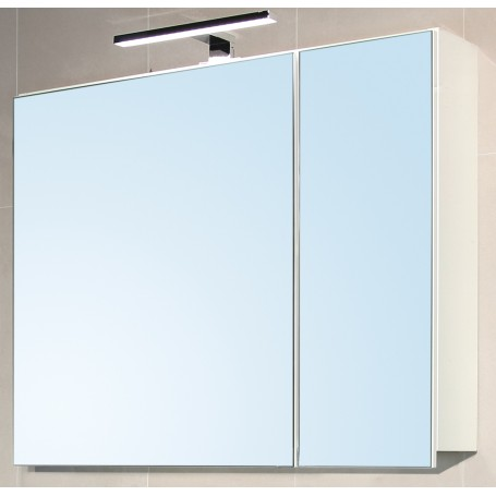 Glory 80 upper bathroom cabinet white gloss