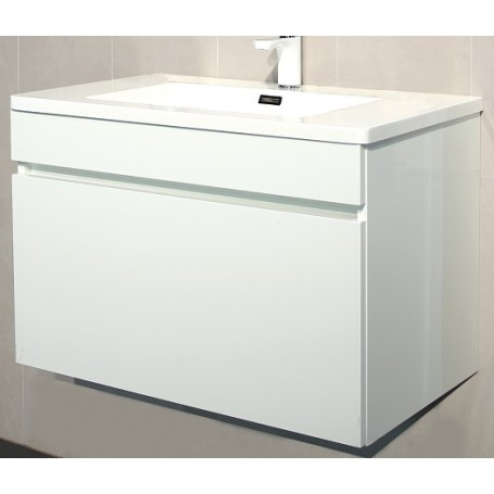 Glory 80 lower bathroom cabinet white gloss