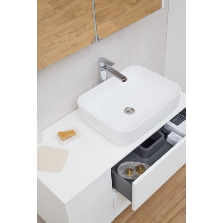 Poise lower bathroom cabinet 100 white