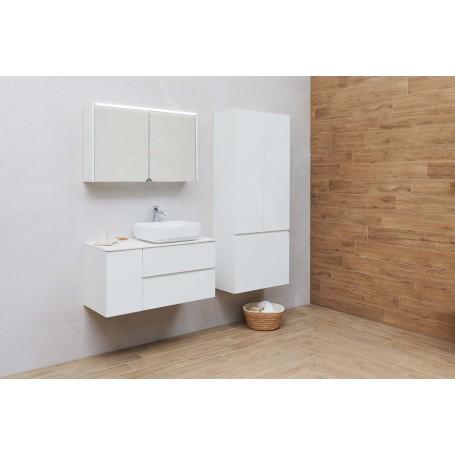 Brim 100 upper bathroom cabinet white matt