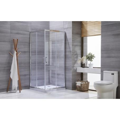 TK Silver Line 80100 rectangular shower cabin 90x100x195cm