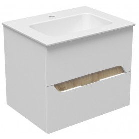 Mia 60 lower bathroom cabinet white gloss