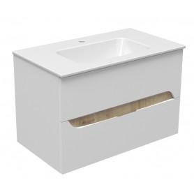 Mia 80 lower bathroom cabinet white gloss
