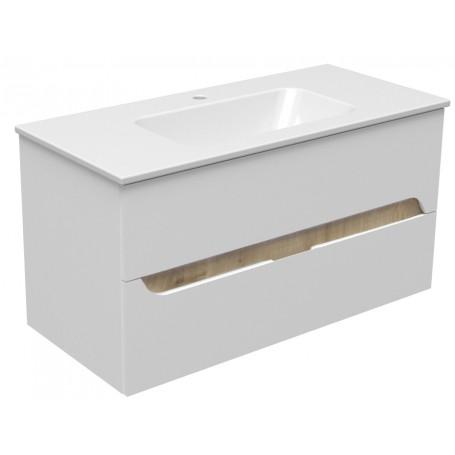 Mia 100 lower bathroom cabinet white gloss