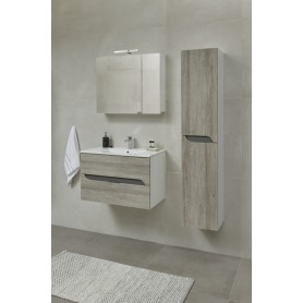 Mia 170 side bathroom cabinet gray mara
