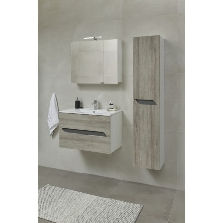 Mia 170 side bathroom cabinet gray mara
