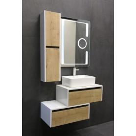 Vital 65 upper bathroom cabinet white gloss / oak