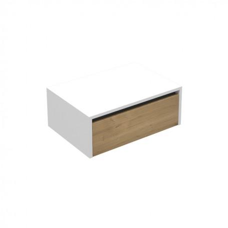 Vital 65 lower bathroom cabinet white gloss / oak